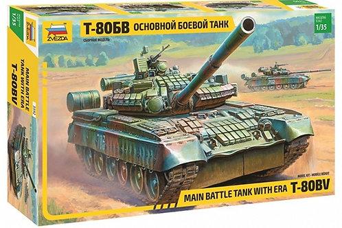 Основной боевой танк Т-80БВ - Звезда 3592 1/35