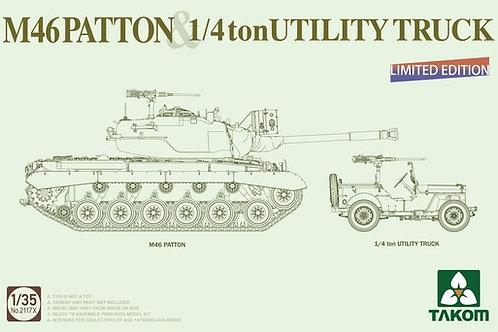 (под заказ) Комбо 1+1 M46 Patton & 1/4 ton Utility Truck - Takom 1:35 2117x