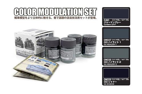 CS-583 Набор модуляции German Gray немецкий серый, 4х18 мл, GSI Mr. Color