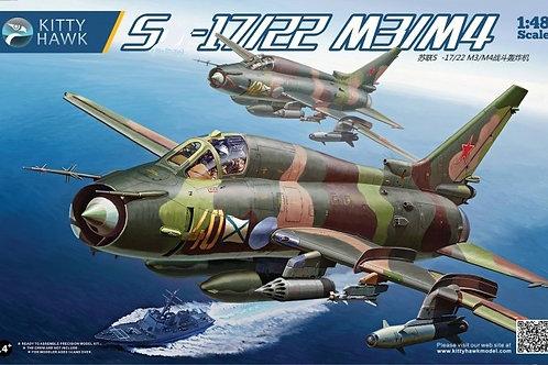 (под заказ) Самолет Сухой Су-17 М3/М4 (Fitter) - Kitty Hawk KH80144 1:48