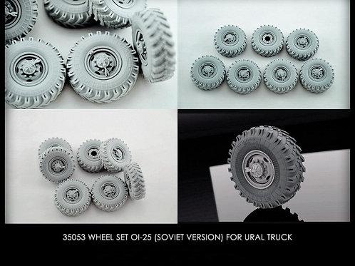 Колеса ОИ-25 (CCCP) для Урал-375, 4320 (6 шт плюс запаска) - B35053 MINIARM 1/35