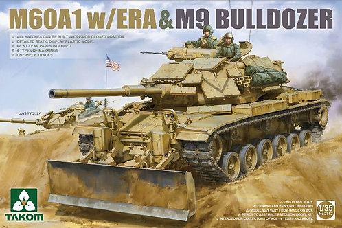 (п/заказ) M60A1 w/ERA & M9 Bulldozer - Takom 1:35 2142