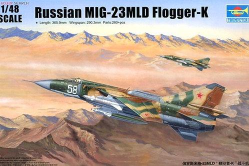 (под заказ) Советский истребитель МиГ-23МЛД Flogger-K - Trumpeter 02856 1/48