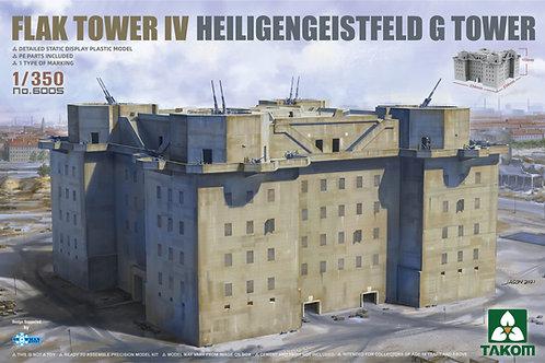 (предзаказ) Flak Tower IV Heiligengeistfeld G Tower - Takom 1:350 6005