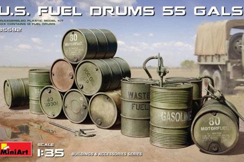 35592 Американские топливные бочки (55 галлонов, 208 литров) - MiniArt 1:35