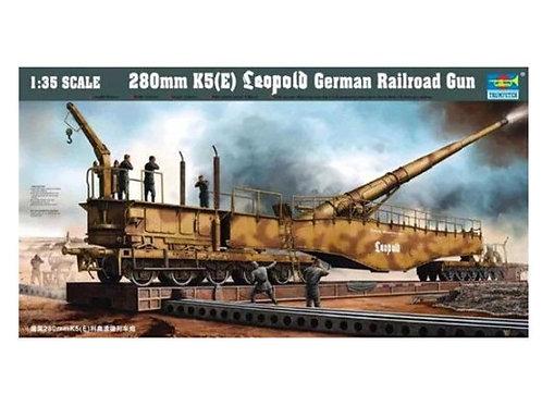 """Немецкое орудие """"Леопольд"""" 280mm K5(E) Leopold - Trumpeter 1:35 00207"""