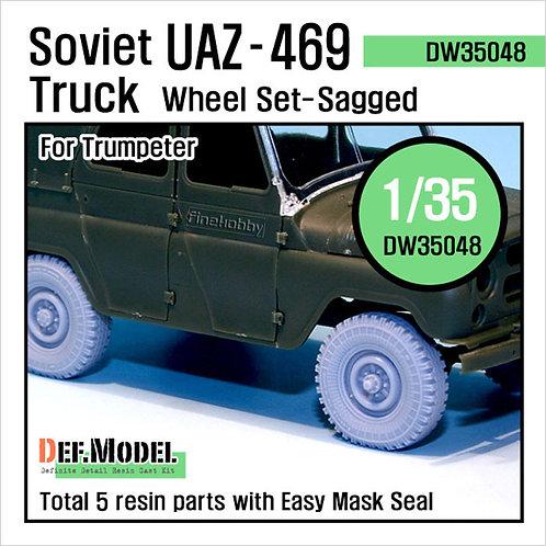 Колеса с просадкой УАЗ-469 - DEF Model 1:35 DW35048 (под заказ)