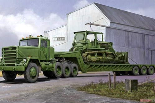 (под заказ) M920 Tractor tow with M870A1 semitrailer - Trumpeter 1:35 01078