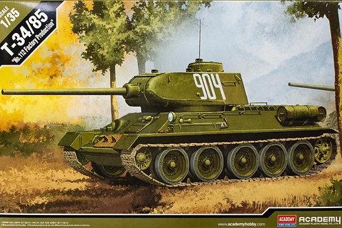 """Танк Т-34/85, завод №112 """"Красное Сормово"""" - Academy 13290 1:35"""