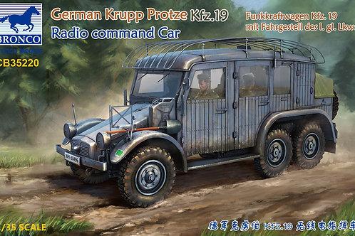 (под заказ) Командирская машина Krupp Protze Kfz. 19 - Bronco 1:35 CB35220