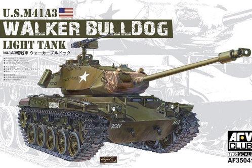 Танк Уолкер Бульдог, US M41A3 Walker Bulldog Light Tank - AFV Club 1:35 AF35041