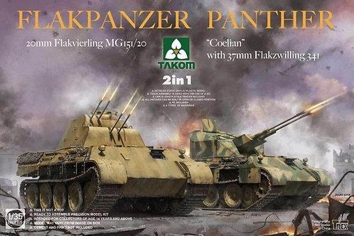 Флакпанцер Флак-Пантера ЗСУ / Flakpanzer Panther, 2 in 1 - Takom 1:35 2105