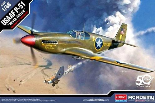 """Истребитель Мустанг, USAAF P-51 """"North Africa"""" - Academy 1:48 12338"""