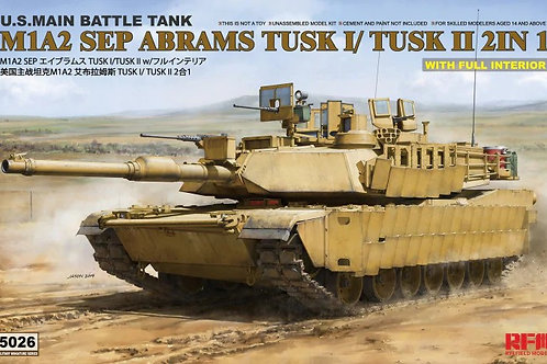 Абрамс M1A2 SEP Abrams TUSK I /TUSK II с интерьером Rye Field Model 1:35 RM-5026