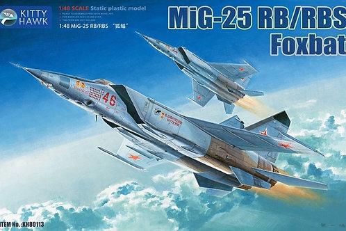 Самолет МиГ-25 РБ/РБС - Kitty Hawk 1/48 KH80113