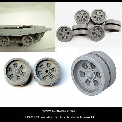 B35021 MINIARM T-90 набор опорных катков, 24 шт, Tamiya, Звезда, Meng, Trumpeter