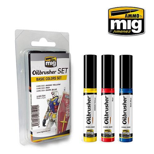 Ammo Mig A.MIG-7504 Набор основных цветов Oilbrusher BASIC COLORS SET Оилбрашер