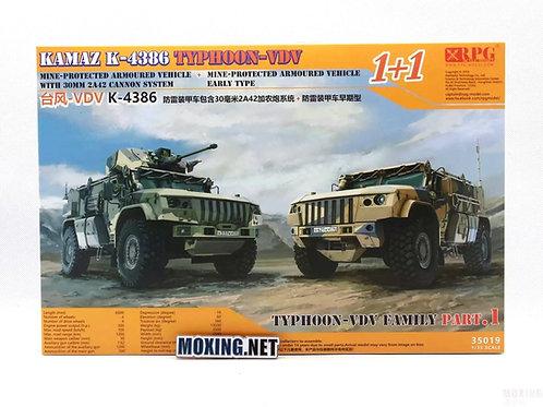 """1+1 две машины К-4386 """"Тайфун-ВДВ"""" - RPG Model 35019 1/35"""