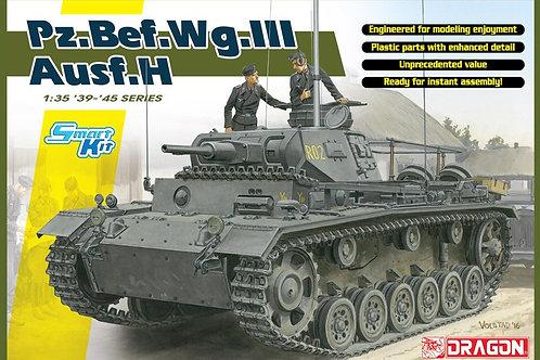 Командирский Pz.Bef.III Ausf. H с интерьером, сборная модель - Dragon 6844 1:35