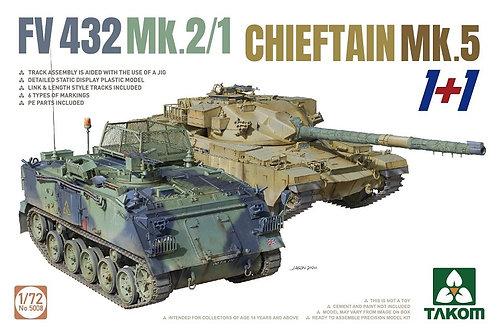 (под заказ) FV432 Mk.2/1 Chieftain Mk. 5 1+1 - Takom 1:72 5008