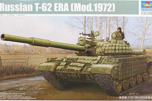 Советский танк Т-62 с блоками ДЗ, выпуск 1972 года - Trumpeter 1:35 01556