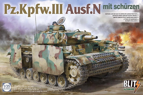 (в пути) Немецкий танк Pz.Kpfw.III Ausf.N с экранами - Takom 1:35 8005