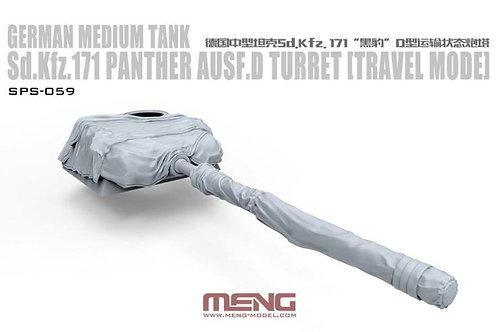 Parther Ausf.D Turret, башня с пушкой в походном положении - Meng SPS-059 1/35