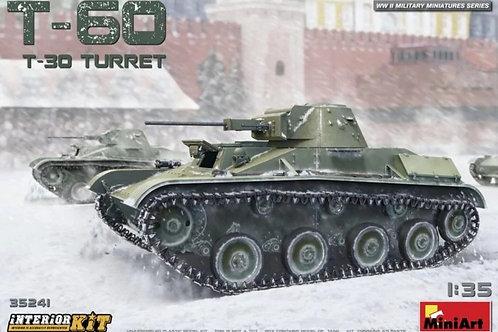 Легкий танк Т-60 (с башней Т-30), с интерьером - MiniArt 35241 1/35