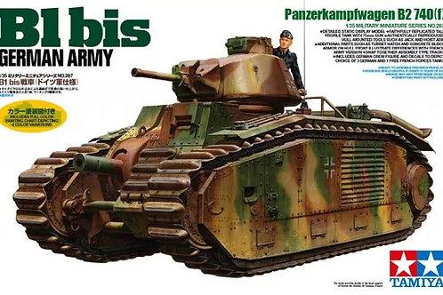 B1 bis German Army Panzerkampfwagen B2 740(f) - Tamiya 1:35 35287