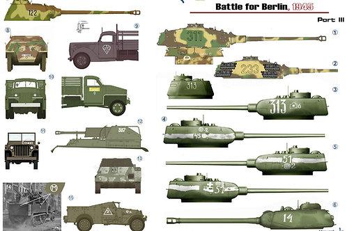 35052 Colibri Decals 1/35 Декали Битва за Берлин 1945, часть 3