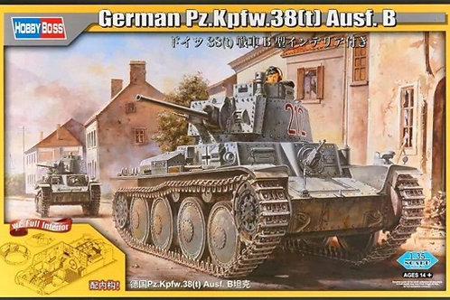 "Pz.38(t) Ausf.B (""Прага"") с интерьером - Hobby Boss 80141 1:35"