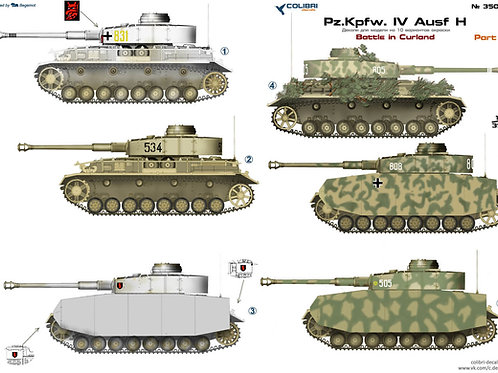 35040 Colibri Decals 1/35 Декали Pz.Kpfw.IV Ausf.Н, ч.3, Курляндия 1944