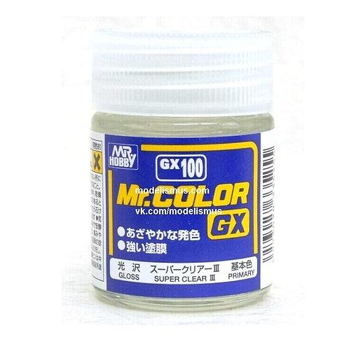 GX-100 Супер-лак глянцевый, 18 мл - GSI Creos Mr. Hobby gx100 gx 100