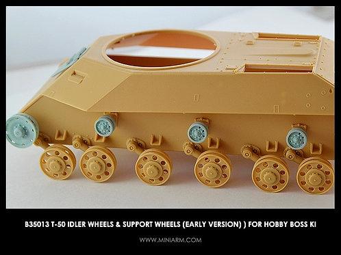 35013 MINIARM b35013 Т-50 ленивцы и поддерживающие каточки (ранние) Hobby Boss
