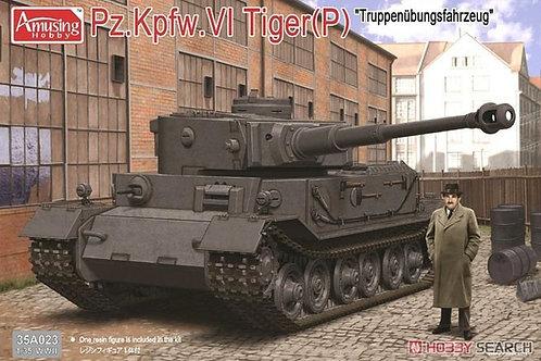 (под заказ) Тигр Порше Pz.Kpfw.VI Tiger (P) +фигурка - Amusing Hobby 1:35 35A023