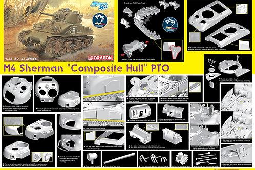 (под заказ) M4 Sherman Composite Hull PTO, наборные траки - 6740 1/35