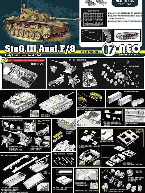 (предзаказ) StuG.III Ausf.F/8 ранний, с интерьером - Dragon 1:35 6928