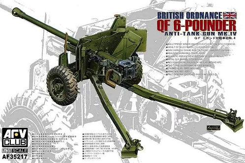 Пушка British Ordnance QF 6-Pounder Mk.IV - AFV Club 1:35 AF35217