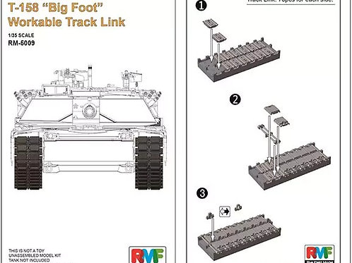 Траки рабочие M1A1/M1A2 T-158 Big Foot, Rye Field Model 1:35 RM-5009