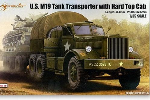 (под заказ) U.S. M19 Tank Transporter with Hard Top Cab - Merit 1:35 63501 Trump