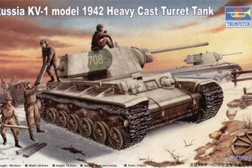 Советский танк КВ-1 мод. 1942 года с литой башней - Trumpeter 00359 1:35