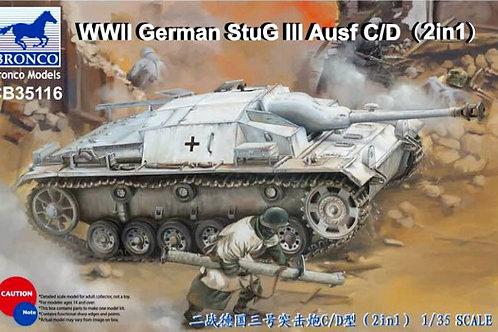 Самоходка Stug III Ausf. C/D с 75-мм пушкой (2 в 1) - Bronco CB35116 1:35