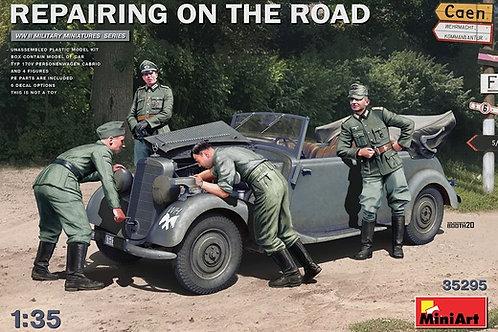 Ремонт на дороге, фигурки и автомобиль Тип 170В - MiniArt 1:35 35295