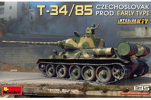 (под заказ) Т-34/85, Чехословакия, ранний тип, с интерьером - MiniArt 1:35 37069