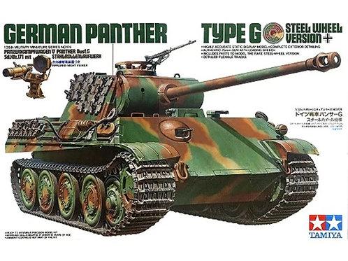 Немецкий танк Пантера, Panther G, стальные катки, ПНВ - Tamiya 1:35 35174