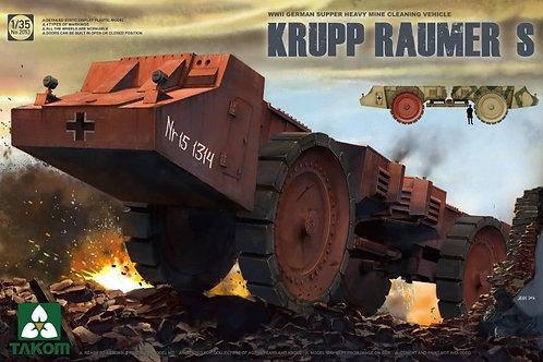 Krupp Raumer S WWII German Super Heavy Mine Clearing Vehicle - Takom 1:35 2053