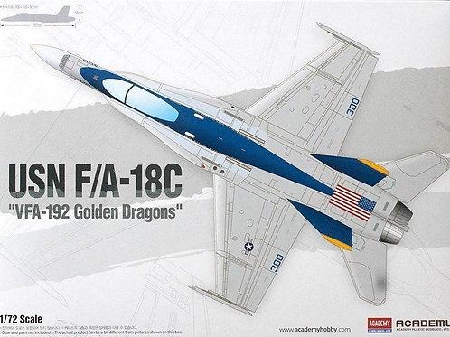 """Самолет USN F/A-18C """"VFA-192 Golden Dragons"""" - 12564 Academy 1/72"""