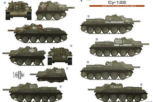 35055 Colibri Decals 1/35 Декали самоходки СУ-122
