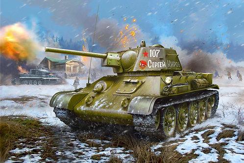 """(в наличии) Звезда 3686 1/35 Танк Т-34-76 """"гайка"""" УТЗ 1942 года"""