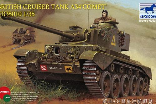Британский танк Comet Cruiser Tank A34 - Bronco 1:35 CB35010